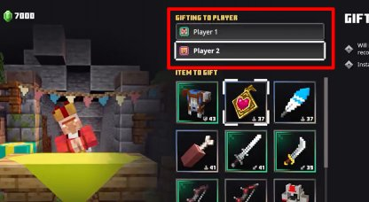 Select Player To Gift Item To