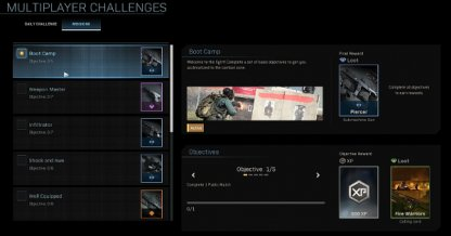 Progression For Challenges & Missions