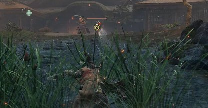Use Shuriken to Lure Shinobi & Juzou to the Pond