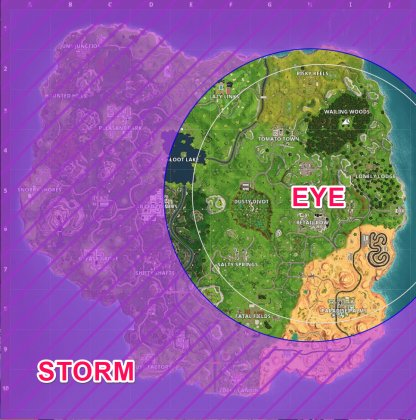 what is the storm eye - fortnite what is the storm