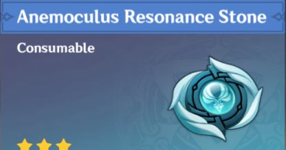 Support Item To Find Anemoculus