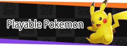 Playable Pokemon