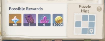 Complete Puzzle To Get Treasure