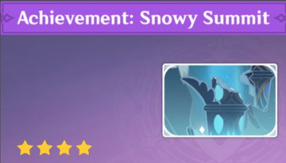 Complete To Get Achievement: Snowy Summit Namecard