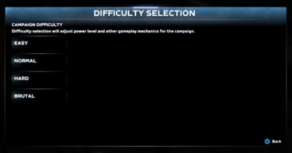 Change Difficulty Before Campaign Starts