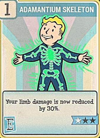 Fallout 76 Perk Card Endurance Adamantium Skeleton