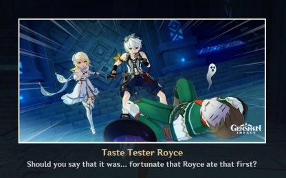 Ending 3: Taste Tester Royce