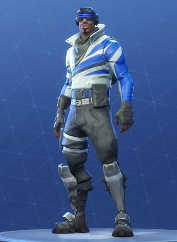Skin Outfit BLUE STRIKER