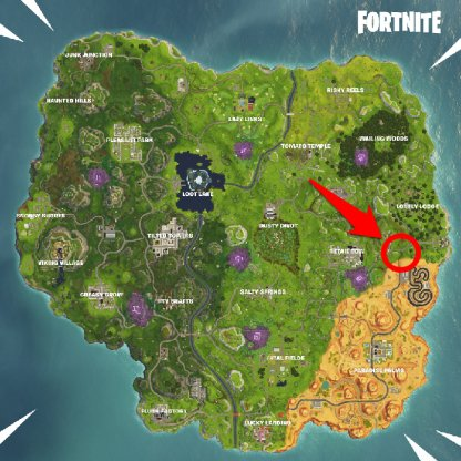 Season 6 Week 6 Secret Banner Location