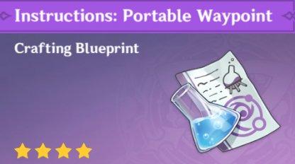 Blueprint In Precious Item Menu