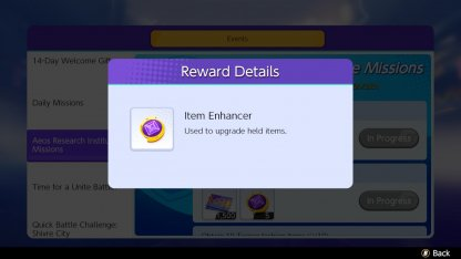 Purchase Item Enhancers To Upgrade Held Items