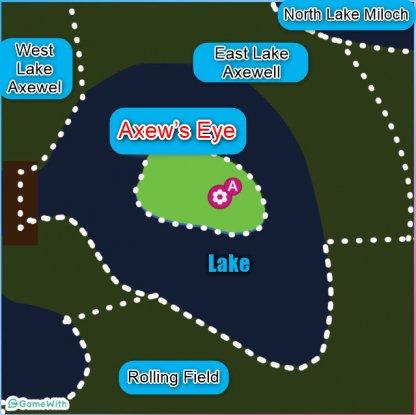 Axew's Eye den location map