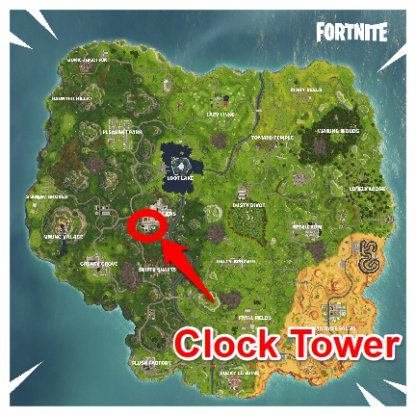 Fortnite Tilted Towers Clock Tower