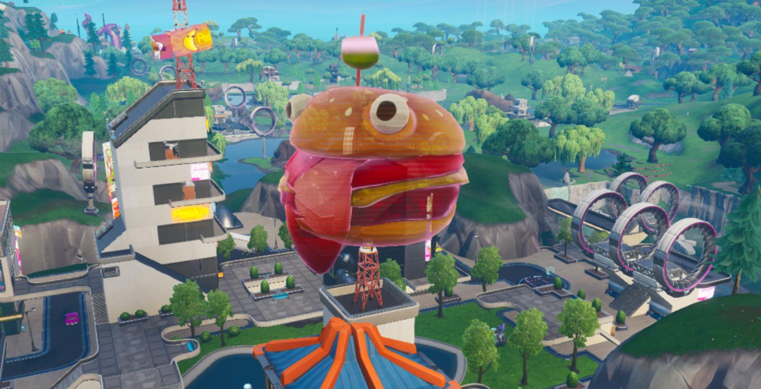 Fortnite Dance At Durr Burger Fortnite Dance Inside A Holographic Durrr Burger Head Week 4 Location Gamewith