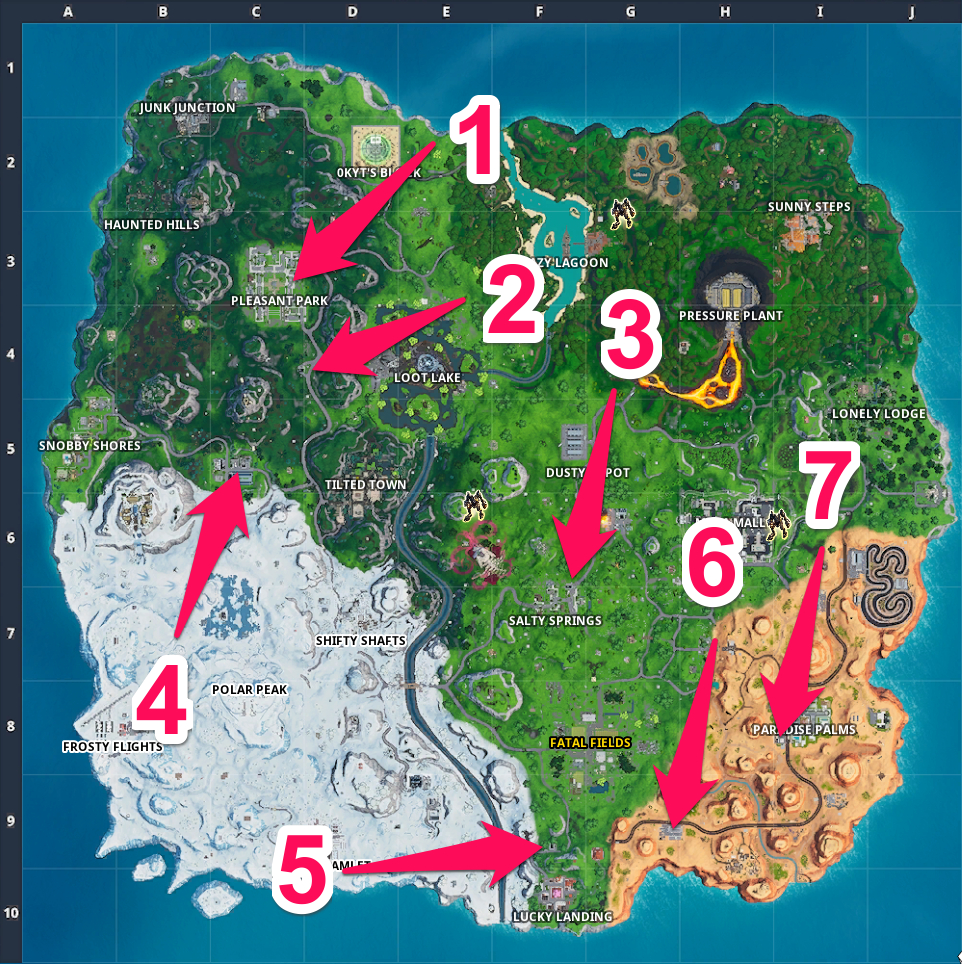 Fortnite Locations Of Upgrade Stations Fortnite Gas Station Locations Spray Pray Gamewith