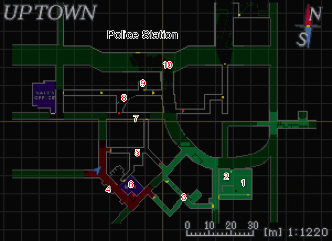 Uptown Police Station Pt 1 Maps Resident Evil 3 Nemesis Gamewith