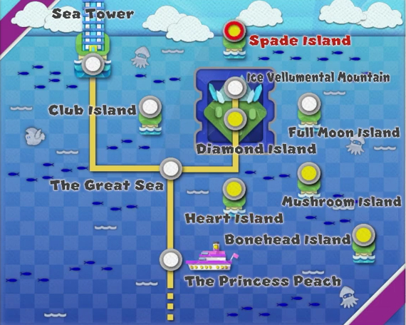Paper Mario World Map List Of All Zones Origami King Gamewith