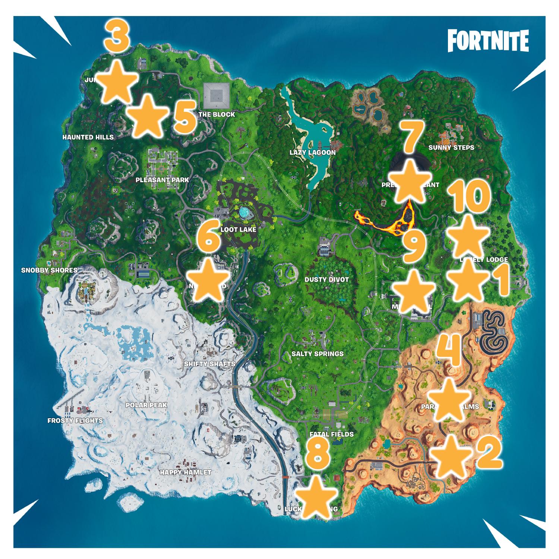 Fortnite | Season 10 Secret Battle Star Locations Guide