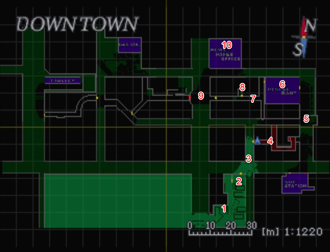 Downtown City Hall Pt 3 Maps Resident Evil 3 Nemesis Gamewith